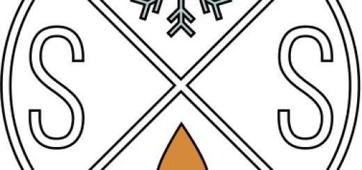Snow S'More Round Logo