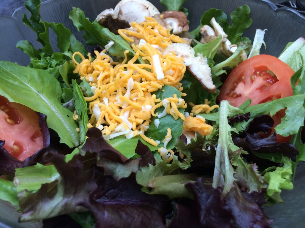 A Salad at The Library Bar and Grill