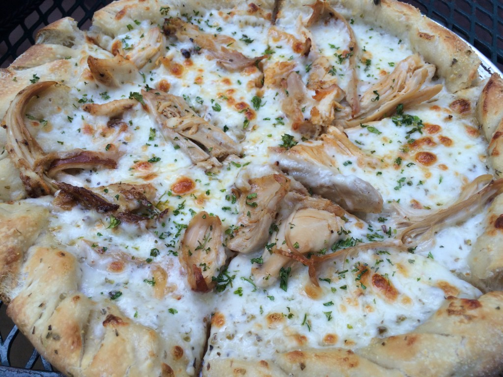 Chicken Pizza at The Library Bar and Grill